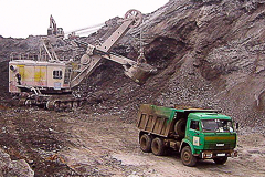 Development  of the slag dump